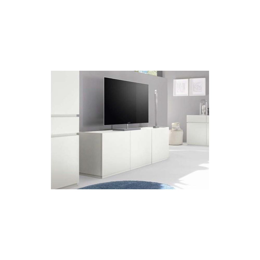 Bahut Bas Design XAR 3 Portes Blanc