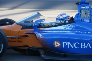 Deflector on Dixon's car.