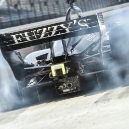 IndyCar teams endure cold temperatures at Indy road course test