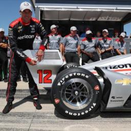 Power Leads Team Penske Front Row Sweep at Iowa