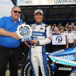 Takuma Sato wins Pole at Texas Motor Speedway
