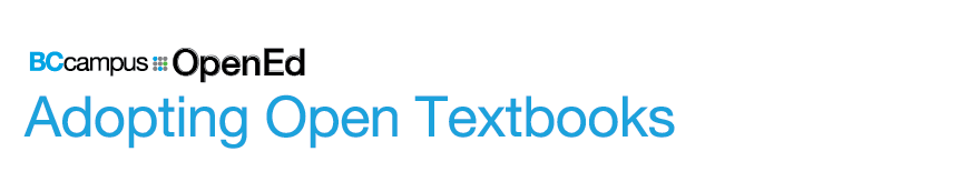 Adopting Open Textbooks banner