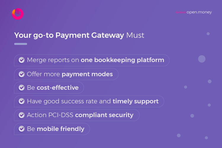 Essential features of a payment gateway
