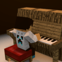 Minecraft Piano With Player
