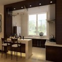 Modern Interior Kitchen Warm Style