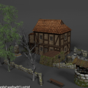 Medieval Ultimate House With Backyard