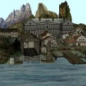 Island With A Village Free 3d Model
