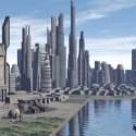 Scena della città del futuro