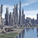Zukünftige Stadtszene