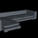 Lowpoly Sofa Free 3d Model