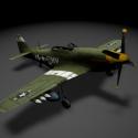 P51 Mustang Aircraft Free 3d Model