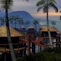 Tropical Paradise City BUilding 3d Model