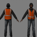 Road Worker Character 3d Model