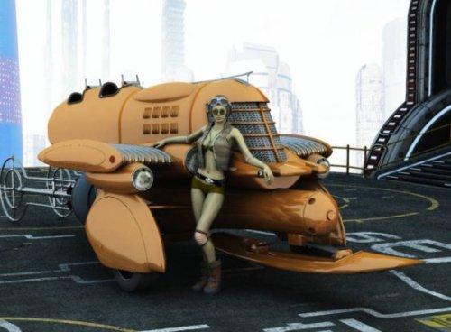 Vanship Vehicle Free 3d Model