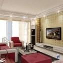 Cozy Villa Living Room Interior Scene