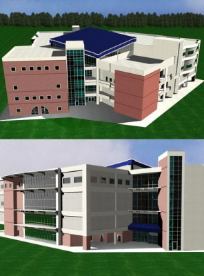 School Building 3d Max Model (3ds,Max) Free Download