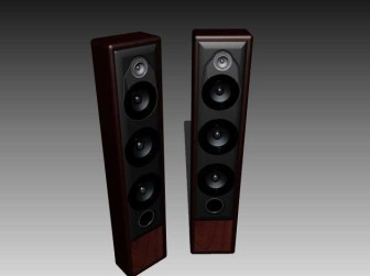 Wood Speaker 2.0 3d Max Model