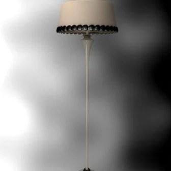 Retro Single Lampshade Floor Lamp 3d Max Model