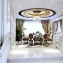 Large Space Restaurant Interior Scene