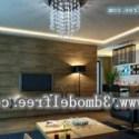 Dark Style Living Room Interior