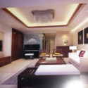 Simple Design Chinese Living Room Interior Scene
