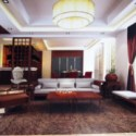 Chinese Wooden Living Room Interior 3dsMax Scene
