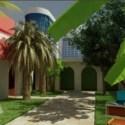 Tropical House Garden  Exterior Scene