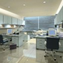 Multiplayer Office Space Interior Scene