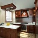 المشهد الصلبة الخشب مطبخ الداخلية