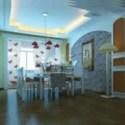 Rustic Restaurant Design interior Scene