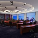Large Office Hall Interior Scene