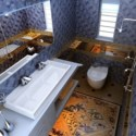 Luxury Bathroom Interior Scene