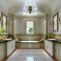 Elegant Design Bathroom Interior Scene