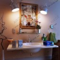 Pastoral Sink Bathroom Interior Scene