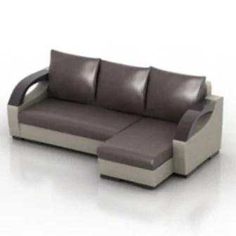 Leather Sofa Multi Seating 3d Max Model Free