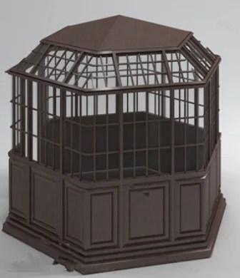 Enclosed Pavilion 3d Max Model Free