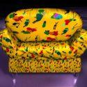 كرسي أريكة أصفر