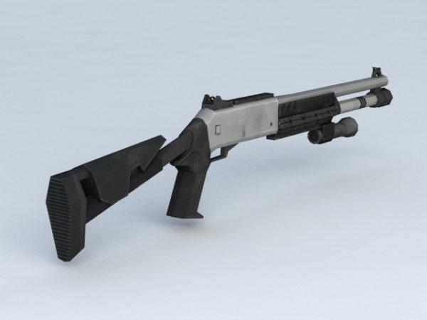 Tactical Shotgun Scope With Laser