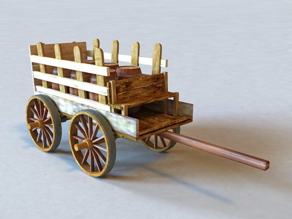 Old Wooden Barrel Cart