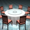 Round Banquet Table And Chairs