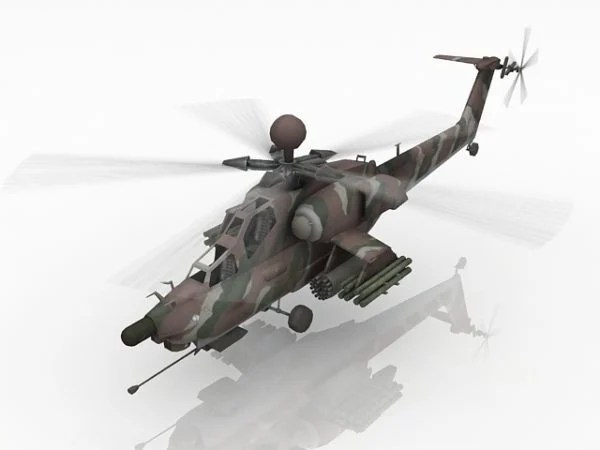 Animated Attack Helicopter