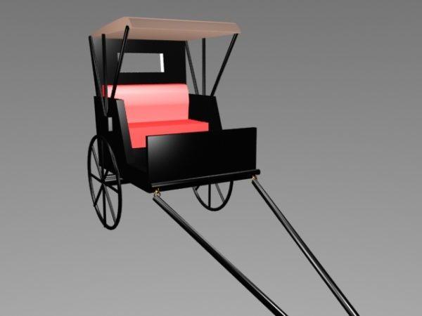 Old Pulled Rickshaw