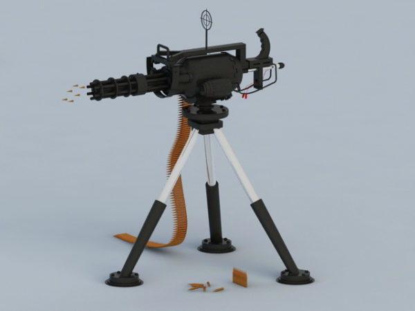 Modern Machine Gun Gatling Gun
