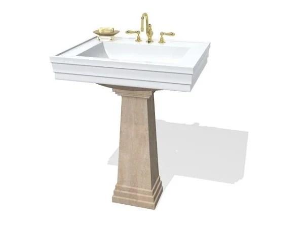 luxury antique pedestal sink free 3d