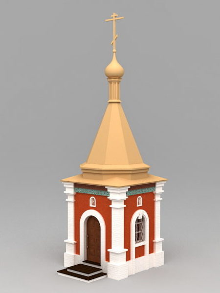 Small Country Church 3ds Max Model - Free Download ( Max