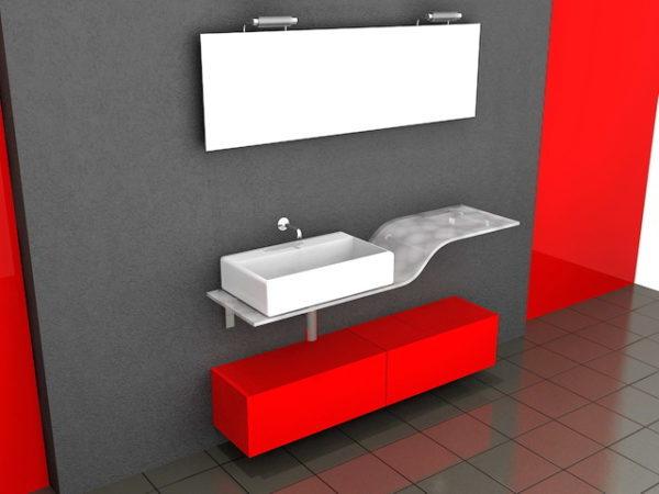 Idées de décoration de salle de bain rouge et noir gratuites ...