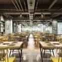 Modern Style Supermarket Restaurant Interior Scene