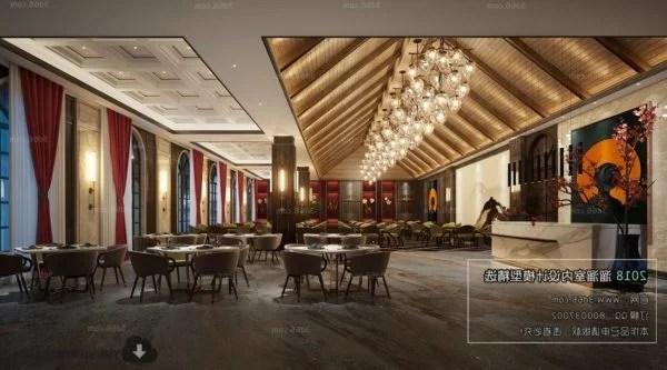 Scène intérieure de décoration de restaurant d\'hôtel de luxe ...