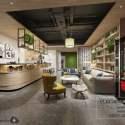 Nordic Style Coffee Shop Interior Scene