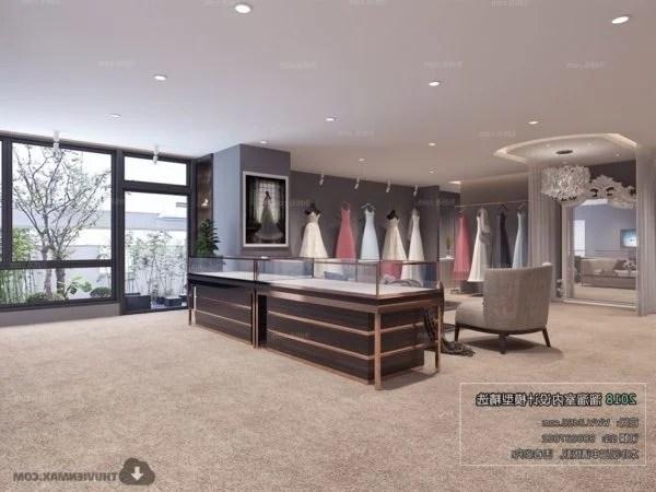 Elegant Fashion Store Design Interior Scene